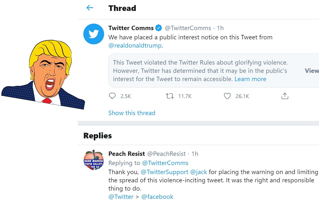 Twitter sakrio Trumpov post zbog veličanja nasilja