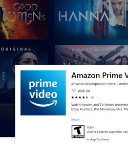 Windows 10 Prime Video nudi offline gledanje