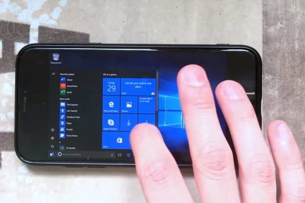 VIDEO: Windows 10 na iPhone X telefonu