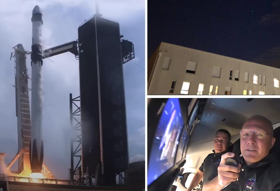 Crew Dragon proletio iznad Zagreba